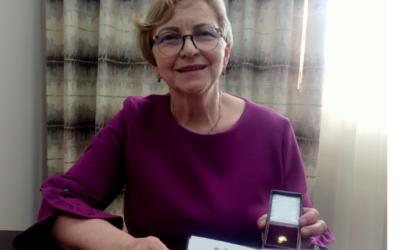 Przewodnicząca Oddziału SBP w Łomży uhonorowana przez Zarząd Główny SBP
